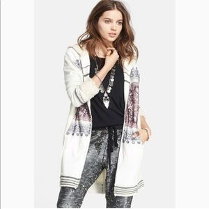 FREE PEOPLE Arctic Escape Hooded Sweater Coat M